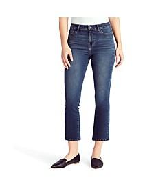 Women's Mid Rise Crop Kick Jeans
