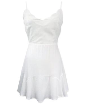 Trixxi Juniors' Scalloped Fit & Flare Dress