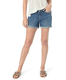High-Rise Cuffed Shorts