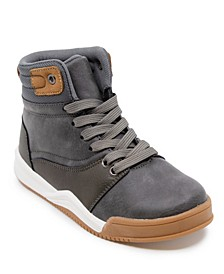 Little Boys Pieced Mid-Top Boot