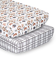 PSP Sheets Woodland Faces/Plaid, 2-Pack