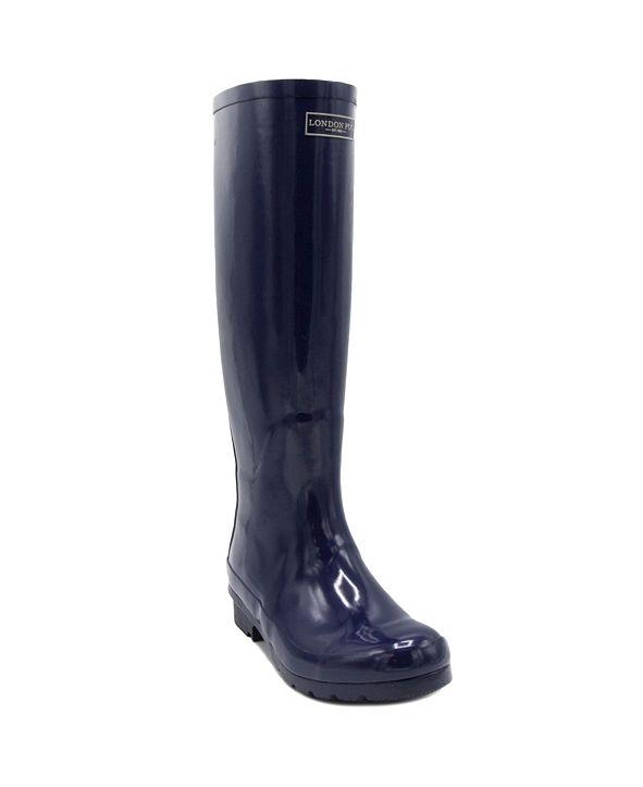 London Fog Women's Thames Knee-High Rain Boot