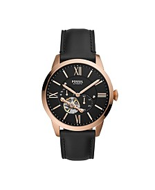 Townsman Automatic Black Leather Watch 44mm