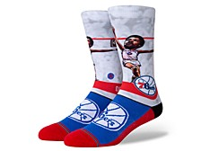 Men's Philadelphia 76ers Julius Erving Big Head Crew Socks