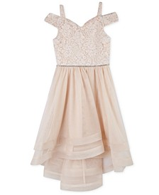Toddler Girls Off-The-Shoulder Lace Dress