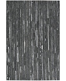 "Vibes VB1 Black 3'6"" x 5'6"" Area Rug"