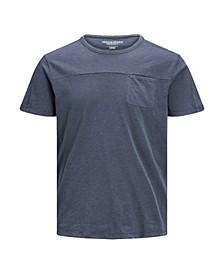 Men's Washed Plain Crew Neck T-shirt