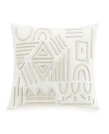 """Geometric Jute 18"""" Square Decorative Pillow"""