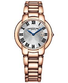 RAYMOND WEIL Watch, Women's Swiss Jasmine Rose Gold PVD-Coated Stainless Steel Bracelet 35mm 5235-P5-01659