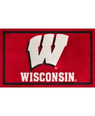 """Wisconsin Colws Red 1'8"""" x 2'6"""" Area Rug"""