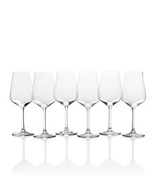 Gianna White Wine Glasses, Set of 6