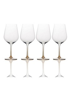 Gianna Ombre Amber Red Wine Glasses, Set of 4