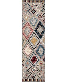 "Monument Lane Settat Gray 2'3"" x 8' Runner Rug"