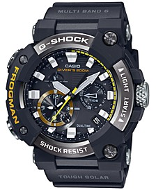 Men's Solar Frogman Black Resin Strap Watch 53.3mm