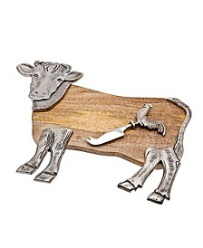 Cow Cheese Board with Knife