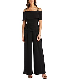Petite Cold-Shoulder Jumpsuit