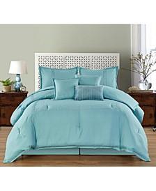 Pisa 7 Piece Comforter Set, Queen
