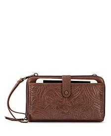 Women's Iris Smartphone Leather Crossbody Wallet