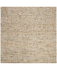 Abstract 468 Gold and Blue 6' x 6' Square Area Rug