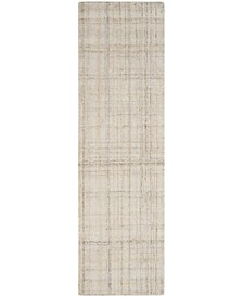 """Abstract 141 Ivory 2'3"""" x 8' Runner Area Rug"""