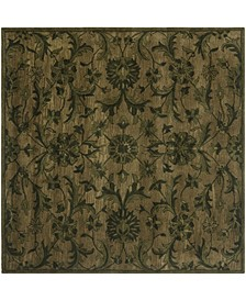 Antiquity At824 Olive 6' x 6' Square Area Rug