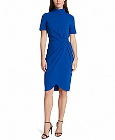 Mock-Neck Sheath Dress