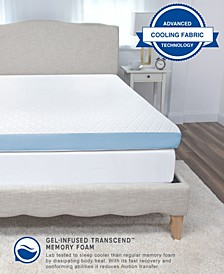 4-Inch Supreme Gel Cooling Transcend Memory Foam Bed Topper Collection