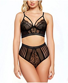 Gwen Lace and Striped Mesh Braset