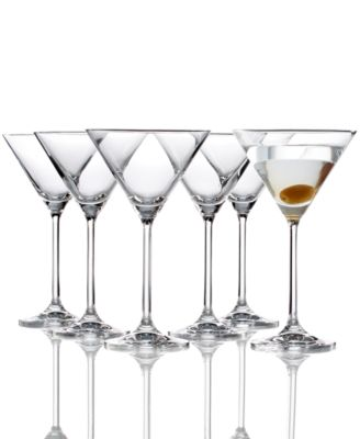 lenox tuscany martini glasses 6 piece value set