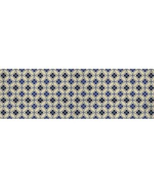 "Florart Palisades Beige/Blue 1'10"" x 5'9"" Runner Rug"