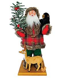 """24"""" Plaid Woodsman Santa"""