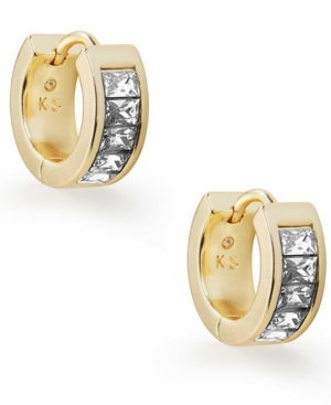 """Kendra Scott Small Square Crystal Huggie Hoop Earrings, 0.5"""""""