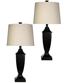 Hardback Fabric Shade Table Lamp Set, Pack of 2