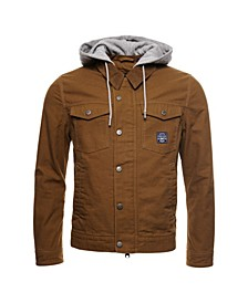 Men's Canvas Hooded Hacienda Trucker Jacket