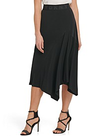 Asymmetric Pull-On Skirt