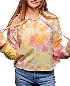 Juniors' Tie-Dyed Hoodie
