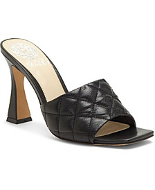 Reselm Quilted Martini-Heel Mules