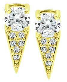Cubic Zirconia Dagger Drop Earrings in 18k Gold-Plated Sterling Silver, Created for Macy's