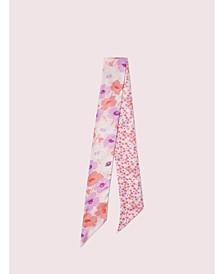 Poppy Field Silk Skinny Scarf