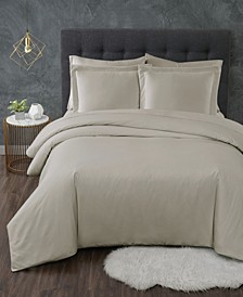 Antimicrobial 3 Piece Duvet Set, King