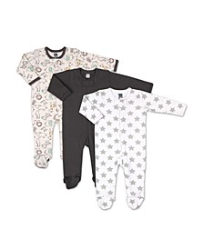 Baby Boys and Girls Safari 3 Pack Sleepers