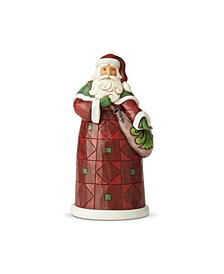 Santa with Satchel Figurine