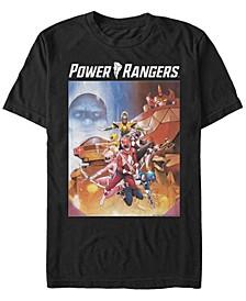 Men's Power Rangers Classic Fight Poster Short Sleeve T-Shirt