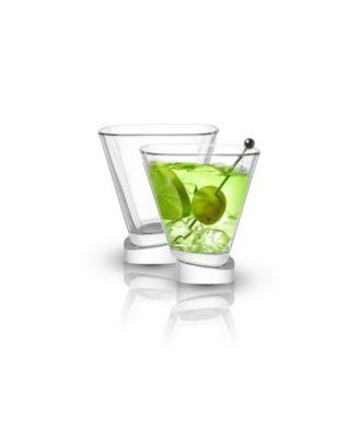 Aqua Vitae Off Base Square Martini Glasses, Set of 2