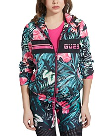 Tropical Floral Windbreaker Jacket