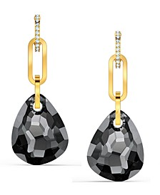 Gold-Tone Link & Crystal Drop Earrings