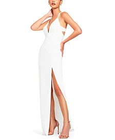 Sleeveless Back-Detail Gown
