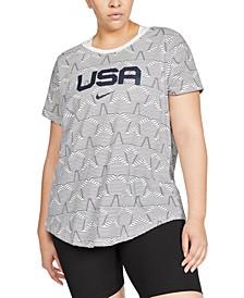 Plus Size Printed Organic Cotton T-Shirt