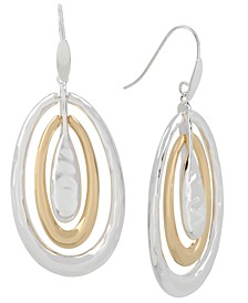 Two-Tone Sculptural Orbital Drop Earrings