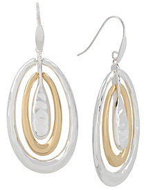 Robert Lee Morris Soho Two-Tone Sculptural Orbital Drop Earrings